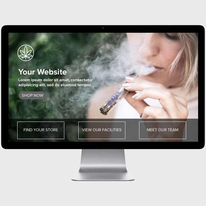 Marijuana Website Design Your Business Here by The Cannabiz Agency