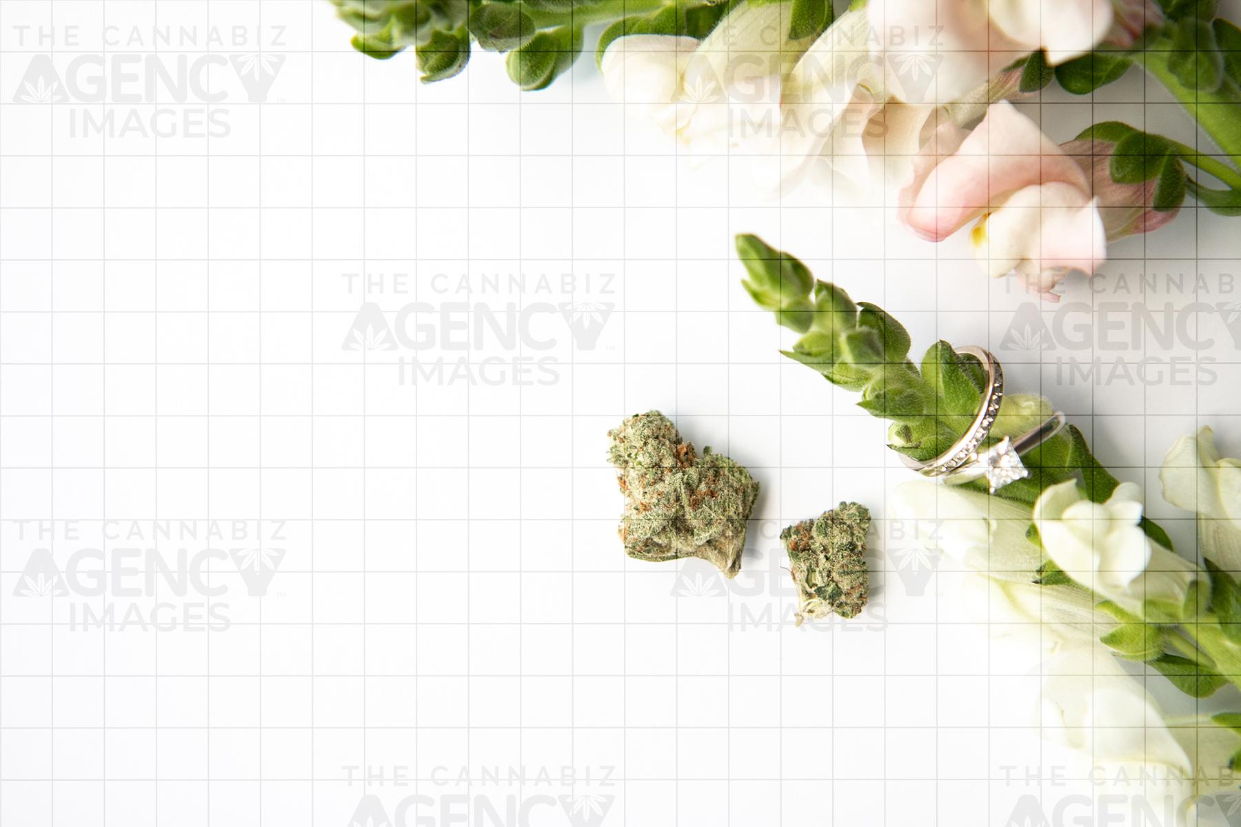 cannabis wedding royalty free stock photos
